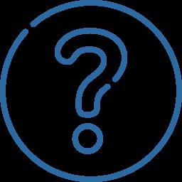 ícone ponto de interrogação