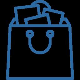 ícone sacola de compras - vender